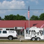 KFFB 106.1 on location at 1st Service Bank in Shirley during Shirley Homecoming