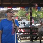 Pam Setser sings the national Anthem