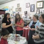 Author Laura Hilton greets folks