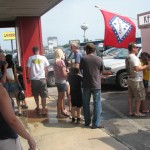 Folks line up for Petit Jean Hot dog and an Ice Cold Pepsi