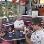 These folks gave money and then eat there favorite DQ treat