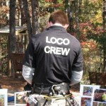 Loco Ropes crew working on the information table