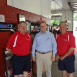Bobby Kent, Boris Dover First Community Bank, and Ronnie Jeffery take time out for a picture