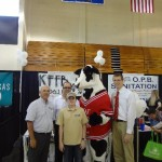 Dale, Bob, Seth, Chic fil a Cow and Matt (with Chick Fil A) take time out for a picture