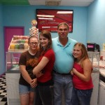 Sydney, Mary, Mark and Rori Beth at Rori Beth's Yogurt Hut