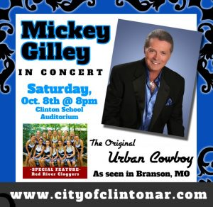 Mickey Gilley in Concert Clinton High School Auditorium