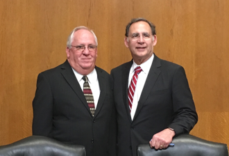 Pictured: Dennis Sternberg, Executive Director of the Arkansas Rural Water Association & U.S. Senator John Boozman (R-AR) in the Senate EPW Committee Hearing Room