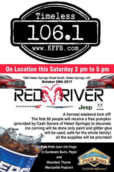 Timeless 106 1 Kffb At Red River Dodge In Heber Springs Saturday