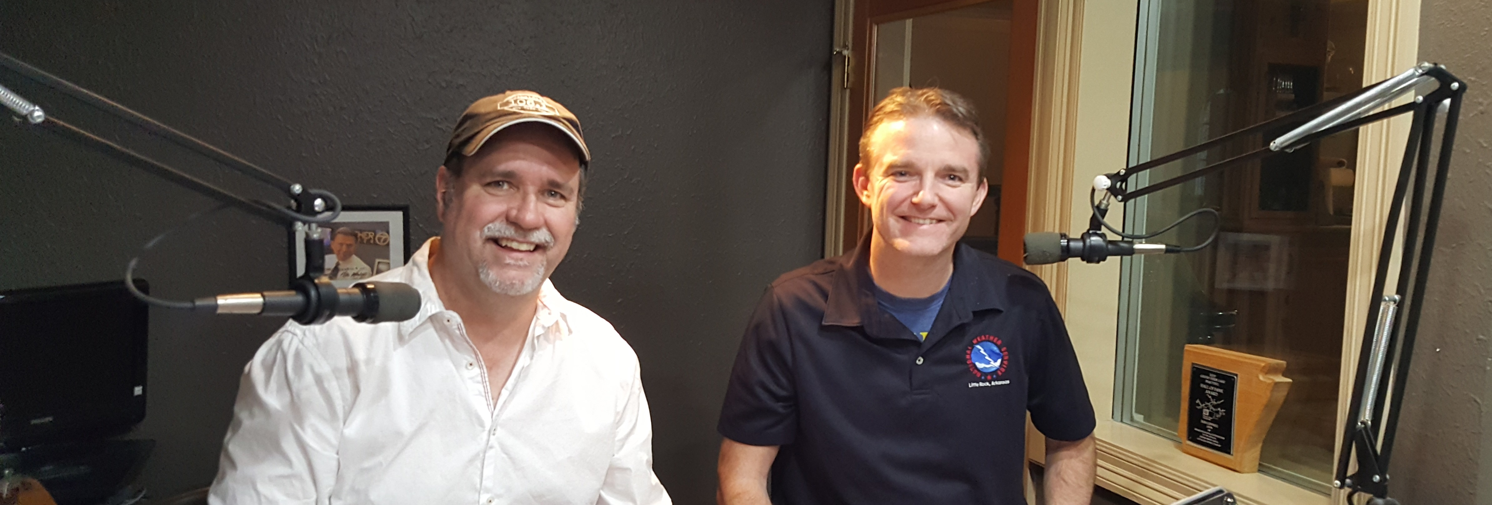 Bob Connell and Dennis Cavanaugh with the NWS Little Rock