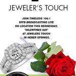 """Timeless 106.1 KFFB on location, """"Valentines Day"""" at Jewelers Touch in Heber Springs"""