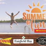"Congratulations to all the, ""Splash into Summer"" winners from Timeless 106.1 KFFB & Sonic"