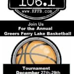 Join Timeless 106.1 KFFB for the annual Greers Ferry Lake Classic Basketball Tournament December 27-29