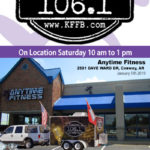 Join Timeless 106.1 KFFB at Anytime Fitness Saturday, January 5, 2019