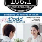 Timeless 106.1 KFFB broadcasting live from the Dodd Family Practice Friday February 22