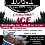Timeless 106.1 KFFB on Location at Churchman's Ace Building Center in Newport Friday March 1st