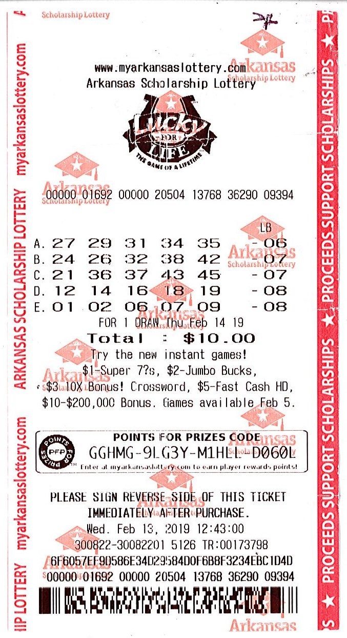 Van Buren man claims Lucky For Life® ticket worth $25,000 a