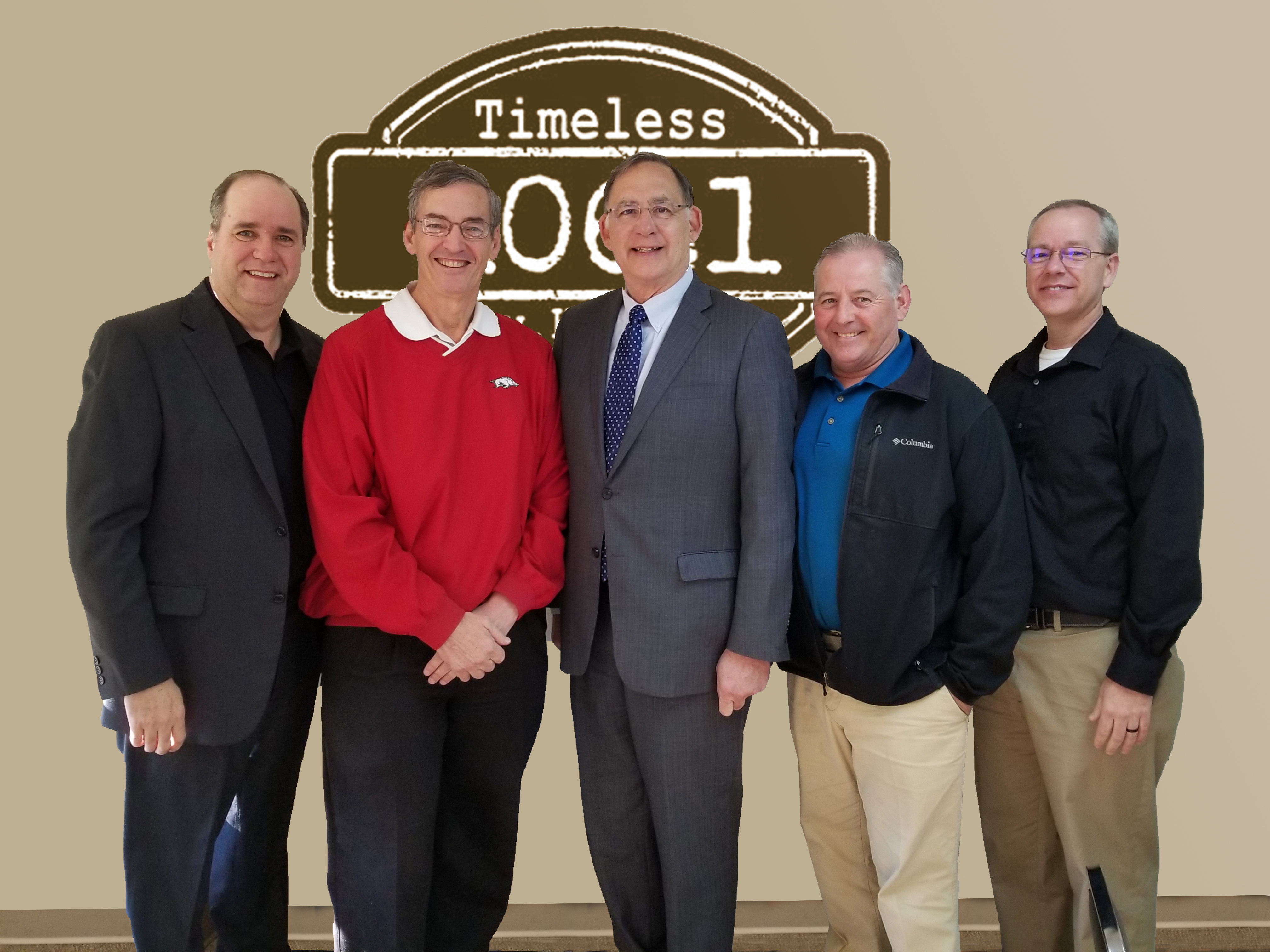 KFFB's Bob Connell Mayor Paul Wellenberger Senator Boozman Mayor Richard McCormac Judge Dale James