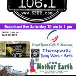 Join Timessless 106.1 KFFB at For Mother Earth, Greyt Tymes Gifts, Souvenirs Embroidery, Greatest Good Studio