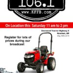 Join Timeless 106.1 KFFB on Location This Saturday at Sherwood Tractor in Rose Bud