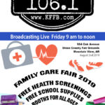 Join Timeless 106.1 KFFB on Location Family Care Fair In Mountain View Friday