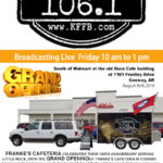 Join Timeless 106.1 KFFB at Frank's Cafeteria in Conway Friday August 16th