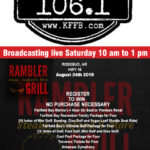 Join Timeless 106.1 KFFB at Rambler Grill in Rose Bud Saturday August 24th