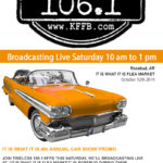 Join Timeless 106.1 KFFB at It is What It Is Flea Market Car Show Promotion this Saturday, October 12th