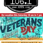 Join Timeless 106.1 KFFB at the Rose Bud Veterans Day Ceremony in Rosebud this Saturday, November 9th