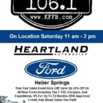 Join Timeless 106.1 KFFB at Heartland Ford in Heber Springs This Saturday, December 14th