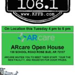 Join Timeless 106.1 KFFB at Arcare Open House in Rose Bud Tuesday January 28